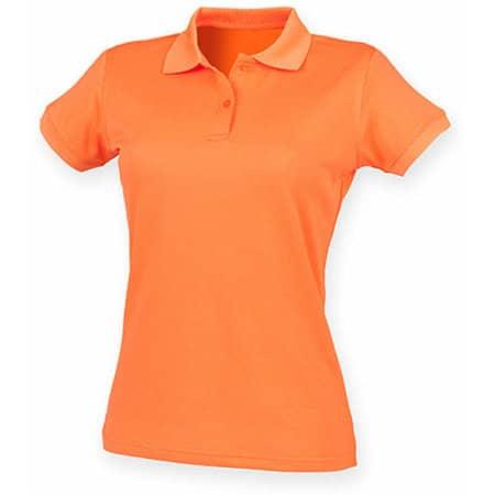 Ladies` Coolplus Wicking Polo Shirt in Bright Orange von Henbury (Artnum: W476