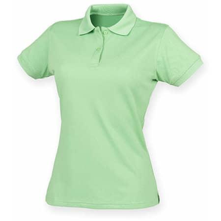 Ladies` Coolplus Wicking Polo Shirt in Lime Green von Henbury (Artnum: W476
