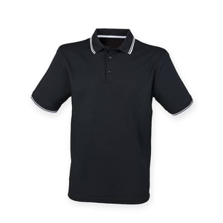 Men's Coolplus® Short Sleeved TippedPolo Shirt von Henbury (Artnum: W482