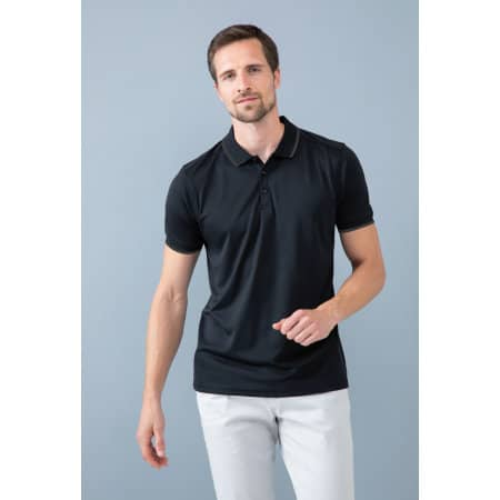Men´s HiCool Tipped Polo Shirt von Henbury (Artnum: W485