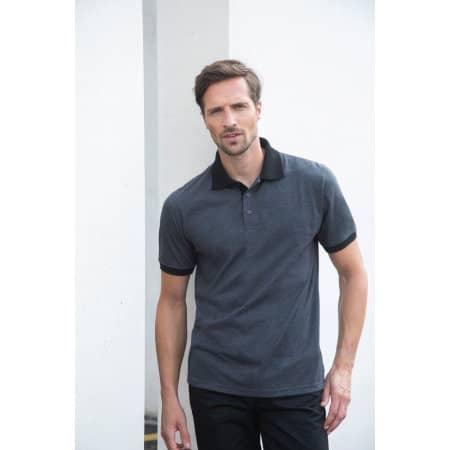Contrast Tri Blend Polo Shirt von Henbury (Artnum: W490
