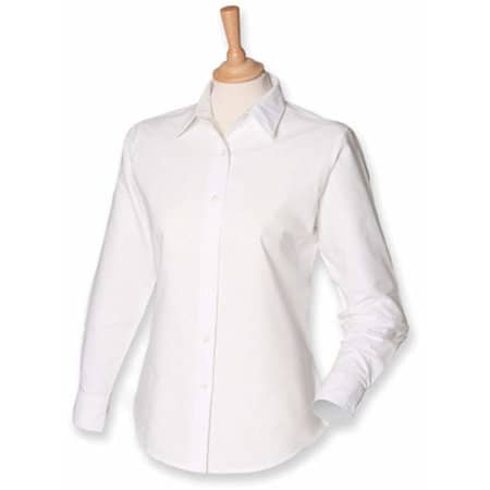 Ladies` Classic Long Sleeved Oxford Shirt in White von Henbury (Artnum: W511