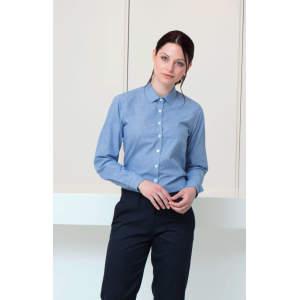Ladies` Gingham Cofrex/Pufy Wicking L/S Shirt