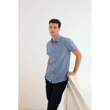 Men`s Gingham Cofrex/Pufy Wicking Shortsleeve Shirt von Henbury (Artnum: W585