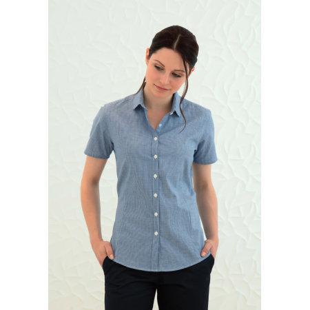 Ladies` Gingham Cofrex Pufy Wicking Shortsleeve Shirt von Henbury (Artnum: W586
