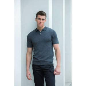 Men`s Knitted Short Sleeved Polo