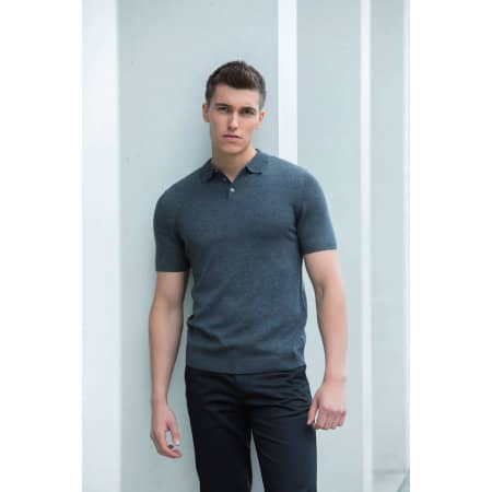 Men`s Knitted Short Sleeved Polo von Henbury (Artnum: W716