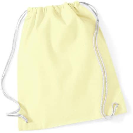 Cotton Gymsac in Pastel Lemon|White von Westford Mill (Artnum: WM110