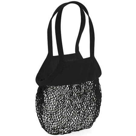 Organic Cotton Mesh Grocery Bag in Black von Westford Mill (Artnum: WM150