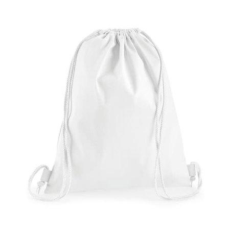 Premium Cotton Gymsac in White von Westford Mill (Artnum: WM210