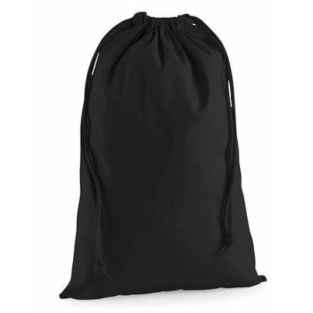 Premium Cotton Stuff Bag in Black von Westford Mill (Artnum: WM216