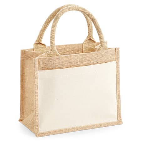 Cotton Pocket Jute Gift Bag von Westford Mill (Artnum: WM425