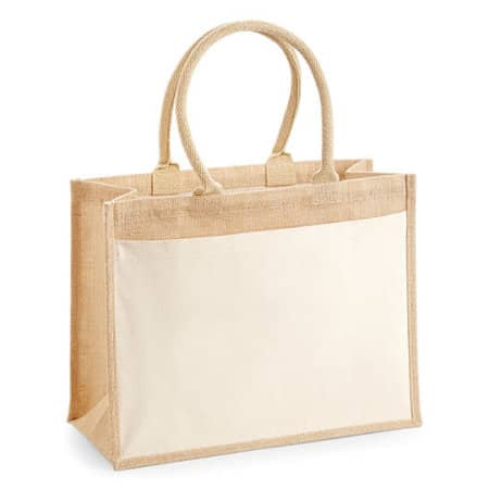 Cotton Pocket Jute Shopper von Westford Mill (Artnum: WM427