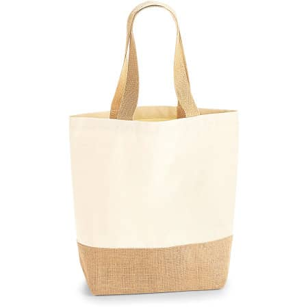Jute Base Canvas Shopper von Westford Mill (Artnum: WM450