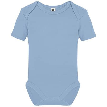 Short Sleeve Baby Bodysuit in Babyblue von Link Kids Wear (Artnum: X940