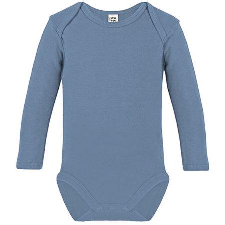 Long Sleeve Baby Bodysuit in Babyblue von Link Kids Wear (Artnum: X941