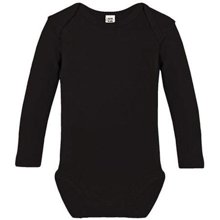 Long Sleeve Baby Bodysuit in Black von Link Kids Wear (Artnum: X941