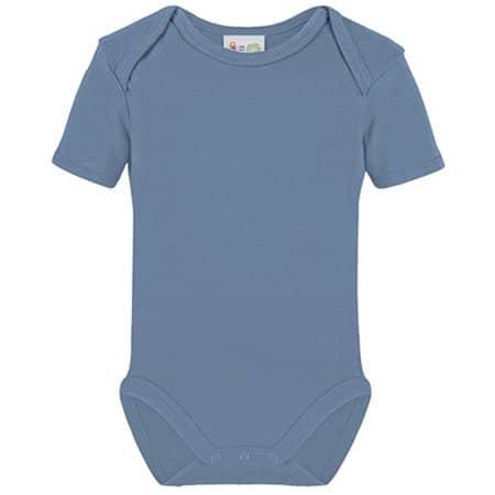 Bio Bodysuit Short Sleeve in Babyblue von Link Kids Wear (Artnum: X946