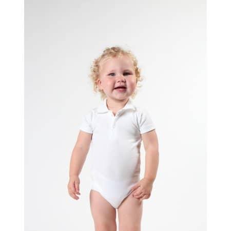 Bio Bodysuit with Polo shirt neck von Link Kids Wear (Artnum: X947