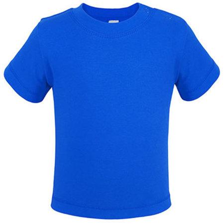 Bio Short Sleeve Baby T-Shirt in Deep Royal von Link Kids Wear (Artnum: X954