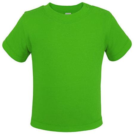 Bio Short Sleeve Baby T-Shirt in Lime Green von Link Kids Wear (Artnum: X954