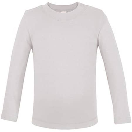 Bio Long Sleeve Baby T-Shirt in White von Link Kids Wear (Artnum: X955