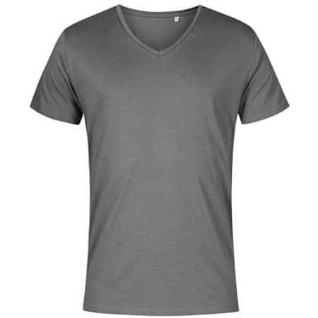 Men´s V-Neck T-Shirt in Steel Grey (Solid) von X.O by Promodoro (Artnum: XO1425