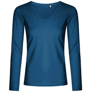 Women´s V-Neck T-Shirt Longsleeve