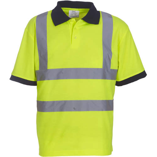 YOKO - Two Band & Brace Hi Vis Polo Shirt