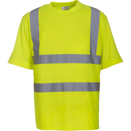 Two Band & Brace Hi Vis T-Shirt von YOKO (Artnum: YK410