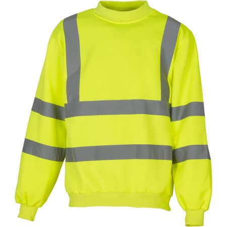 High Visibility Sweatshirt in Hi-Vis Yellow von YOKO (Artnum: YK510