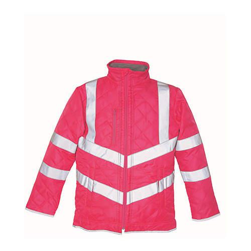 YOKO - Hi Vis Kensington Jacket (with Fleece Lining)