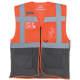 Thumbnail Westen in Hi-Vis Orange|Grey: Hi Vis Top Cool Open Mesh Executive Waistcoat YK820 von YOKO