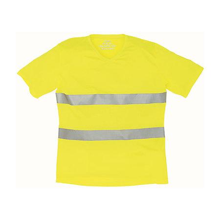 Hi Vis Top Cool Super Light V-Neck T-Shirt in Hi-Vis Yellow von YOKO (Artnum: YK910