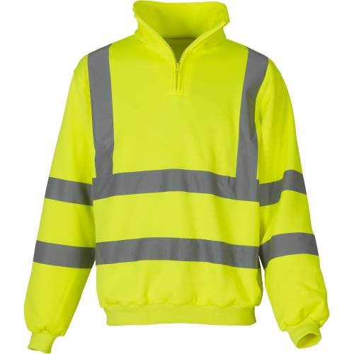 YOKO - Hi Vis 1/4 Zip Sweatshirt