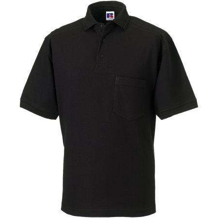 Workwear-Poloshirt in Black von Russell (Artnum: Z011