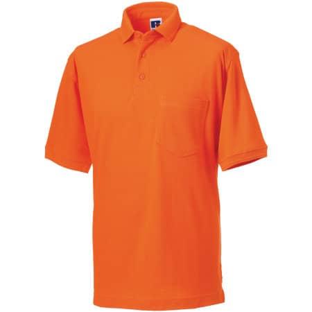 Workwear-Poloshirt in Orange von Russell (Artnum: Z011