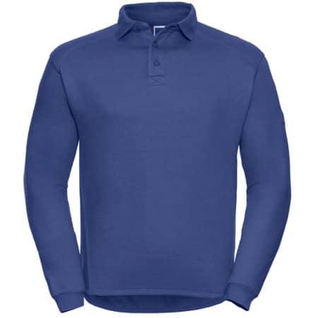 Workwear-Sweatshirt mit Kragen und Knopfleiste von Russell (Artnum: Z012