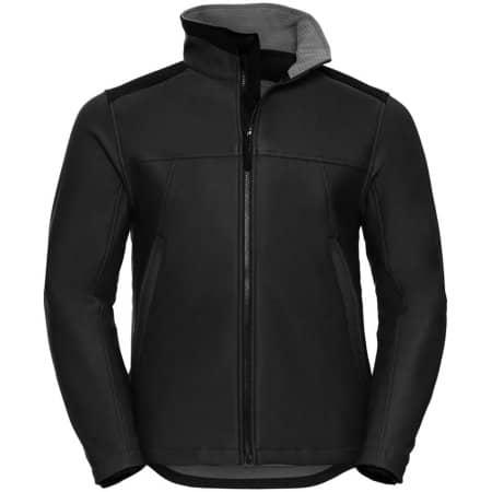 Workwear Soft Shell Jacket in Black von Russell (Artnum: Z018