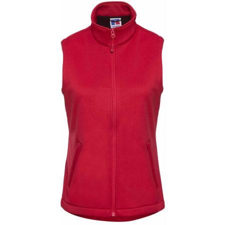 Ladies` SmartSoftshell Gilet in Classic Red von Russell (Artnum: Z041F