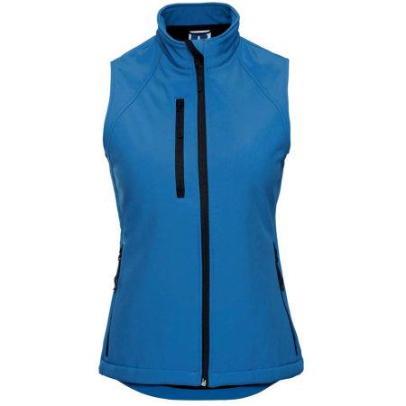 Soft Shell-Gilet für Damen in Azure Blue von Russell (Artnum: Z141F