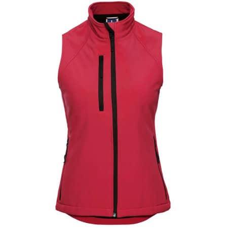 Soft Shell-Gilet für Damen in Classic Red von Russell (Artnum: Z141F