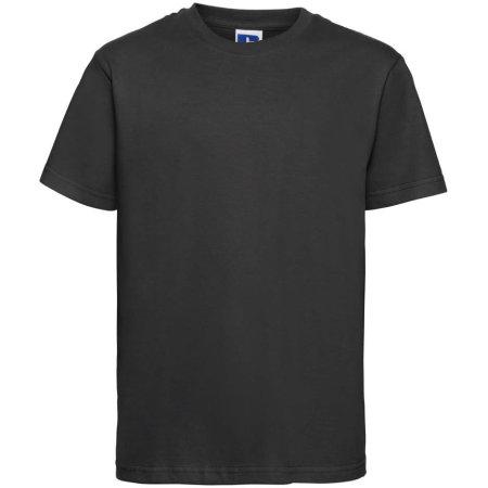 Kids` Slim T-Shirt in Black von Russell (Artnum: Z155K