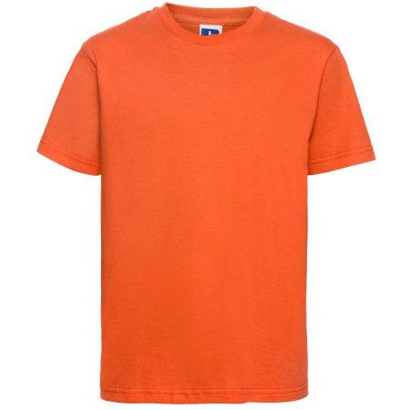Kids` Slim T-Shirt in Orange von Russell (Artnum: Z155K