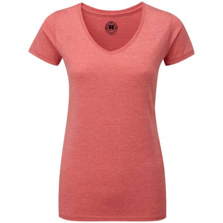 HD Damen T-Shirt mit V-Ausschnitt von Russell (Artnum: Z166F