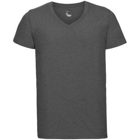 HD Herren T-Shirt mit V-Ausschnitt in Grey Marl von Russell (Artnum: Z166M