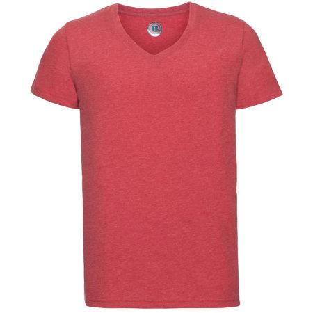 HD Herren T-Shirt mit V-Ausschnitt von Russell (Artnum: Z166M