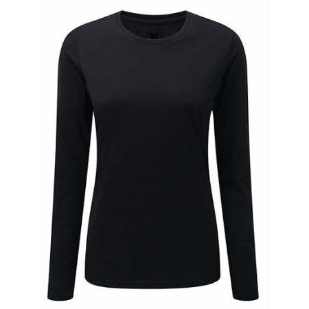 Langarm HD T-Shirt für Frauen in Black von Russell (Artnum: Z167F