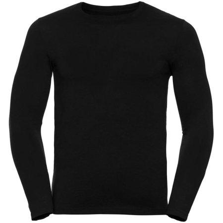 Langarm HD T-Shirt für Herren in Black von Russell (Artnum: Z167M