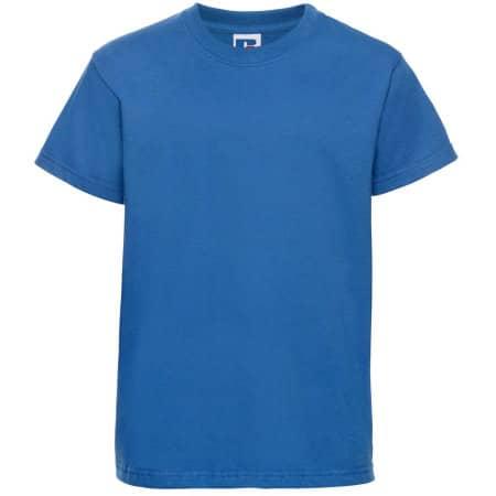 Kids` Silver Label T-Shirt in Azure Blue von Russell (Artnum: Z180K